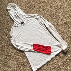 Splits 59 - Long Sleeve Hooded Top - White/Red - M